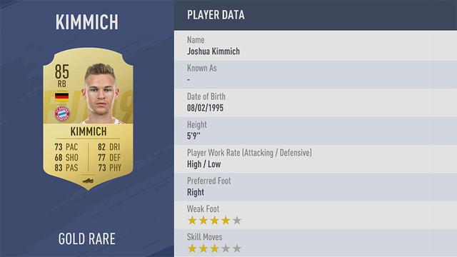 Kimmich Fifa 19 Ultimate Team