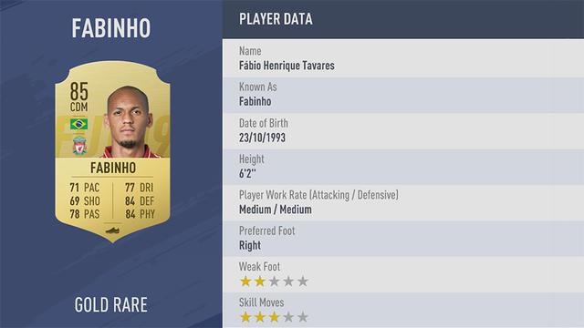 Fabinho Fifa 19 Ultimate Team