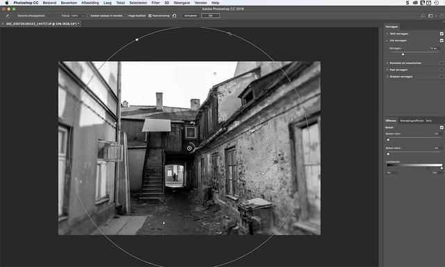 Met Iris vervagen zorg je in Photoshop voor het effect van een gammele lens