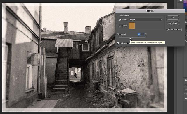 In Photoshop een sepiatintje toevoegen is snel geregeld