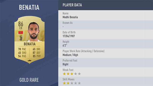 Benatia Fifa 19