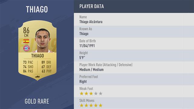 Thiago Fifa 19