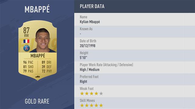 Mbappe Fifa 19