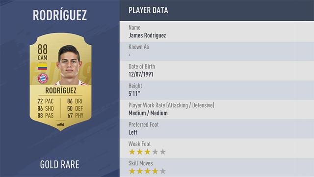 James Rodriguez Fifa 19