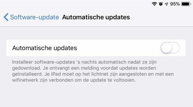 Hiermee zet je de automatische systeemupdates in iOS 12 aan of uit
