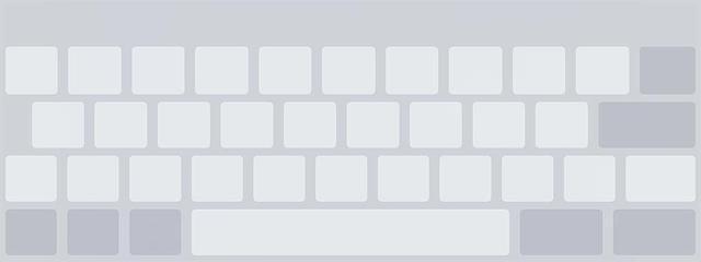 Het schermtoetsenbord van iOS 12 in trackpad modus