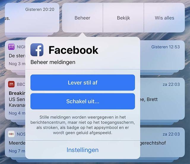 Het beheren van berichtengedrag is in iOS 12 uitgebreid