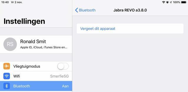 Vergeet een Bluetooth-apparaat en koppel het opnieuw in iOS