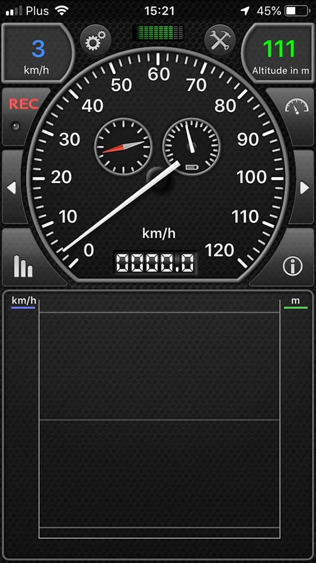 Achterhaal met GPSSpeed HD voor iOS de exacte snelheid waarmee je rijdt
