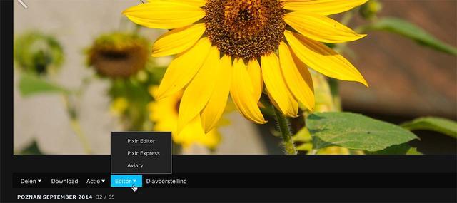 Mocht je het willen dan kun je via Photo Station op de NAS ook via een clouddienst foto's bewerken