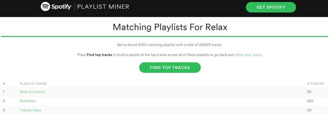 playlists op spotify