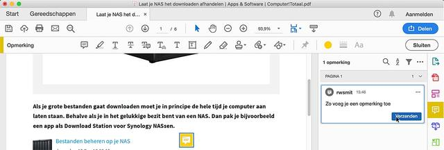 Annoteren is geen probleem met Adobe Reader DC