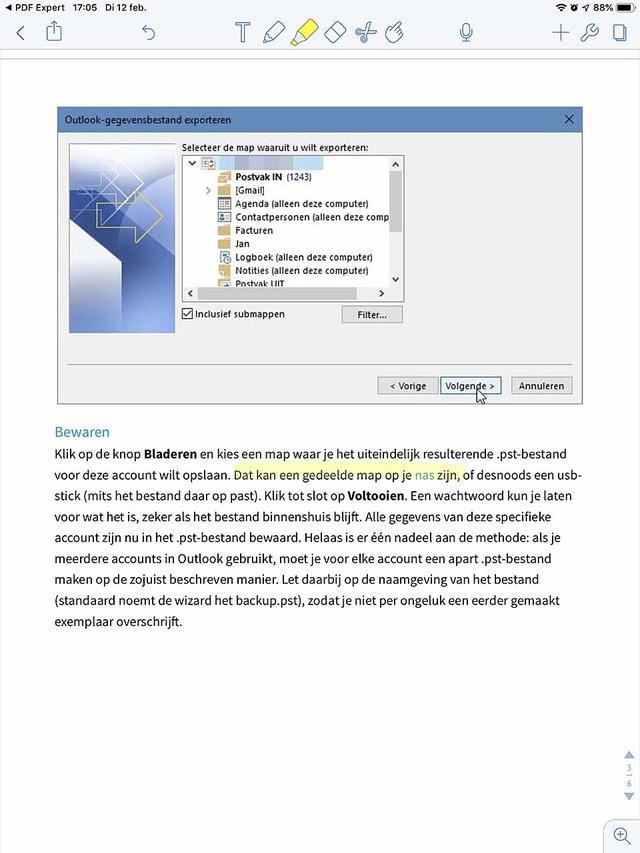 Gebruik de iOS-app Notability ook als tool om aantekeningen aan een PDF'je toe te voegen