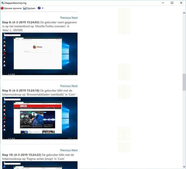 Het opgenomen geheel in Stappenbeschrijving van Windows 10