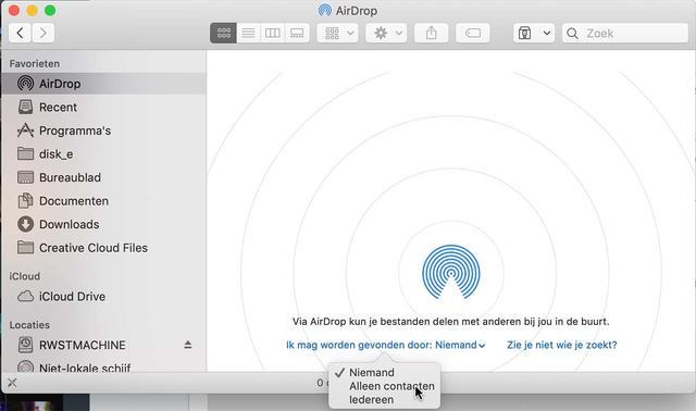 En zo zet je Airdrop aan in macOS