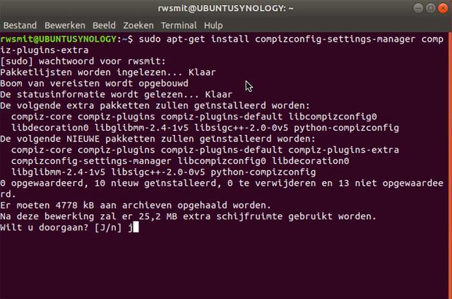 Installeer eerst dit hulpprogramma in Ubuntu via de Terminal