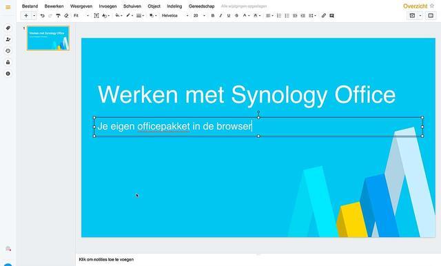 Maak een presentatie met behuylp van Synology Dia's