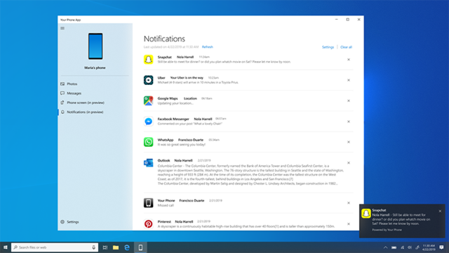 Windows 10 smartphone notificaties