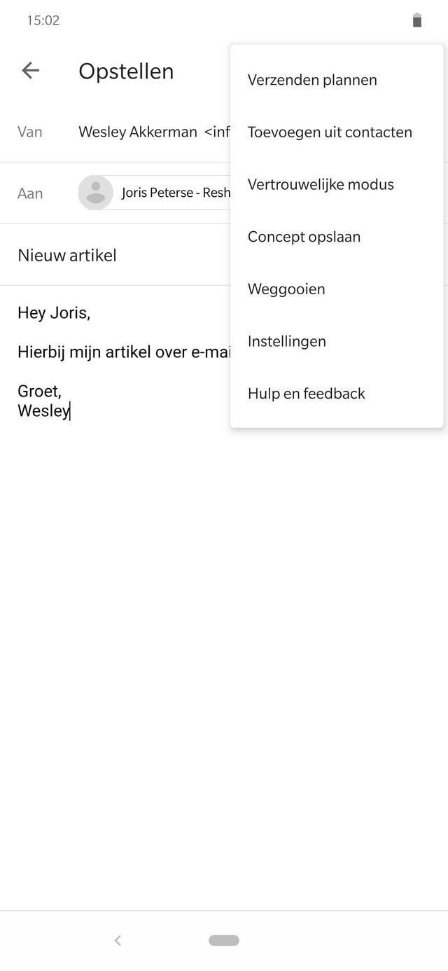 Gmail inplannen