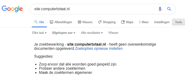 Google is stuk