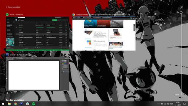 Windows 10 tijdlijn