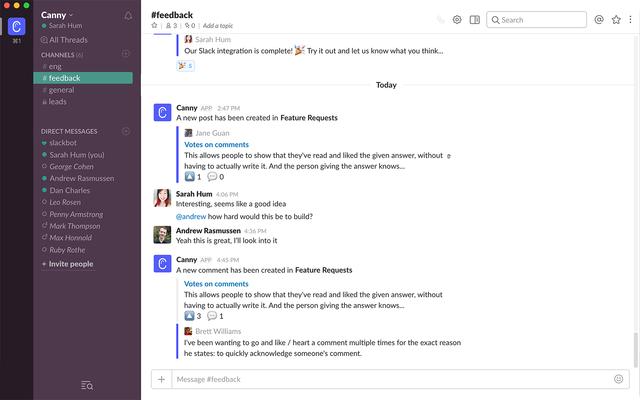 Privacy op Slack