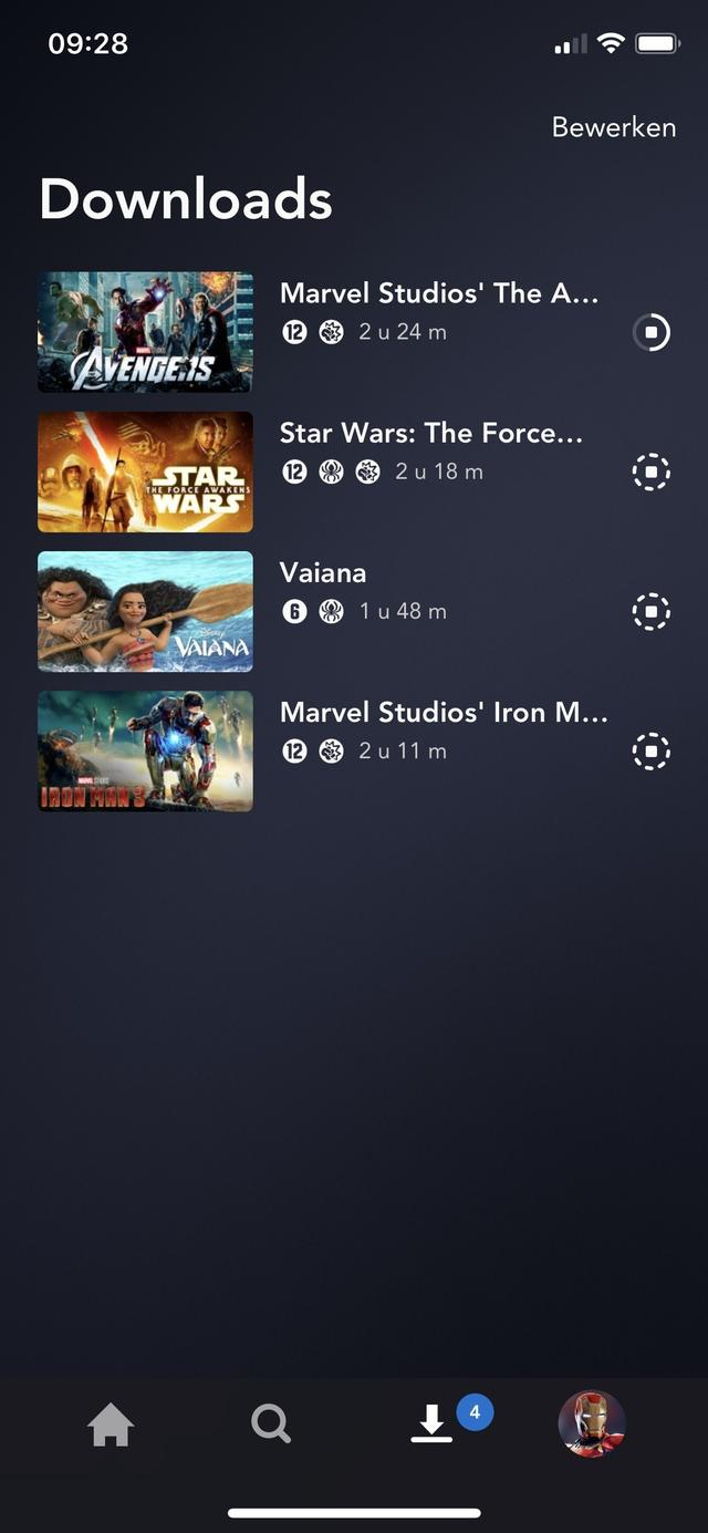 Screenshot van Disney+