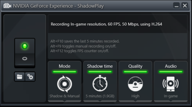 Screenshot van Shadowplay