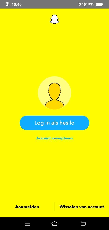 Screenshot van Snapchat verwijderen