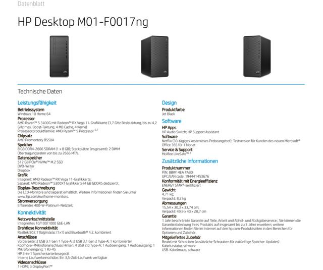 AMD Radeon RX 5300 XT in HP Desktop