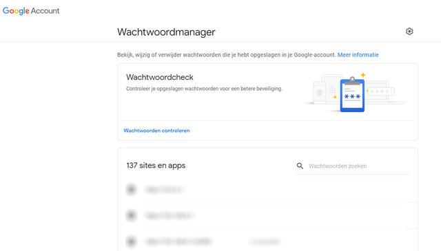 google wachtwoordencheck