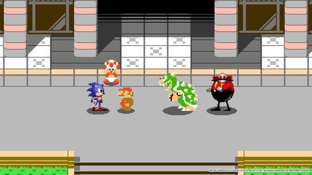 Mario en Sonic