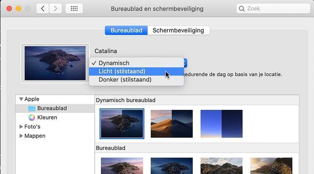Kies voor een dynamische of statische bureaublad-achtergrond in macOS Catalina