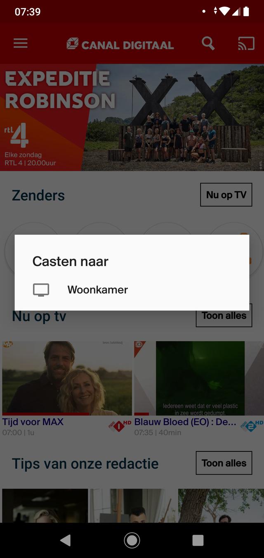 Cast je scherm
