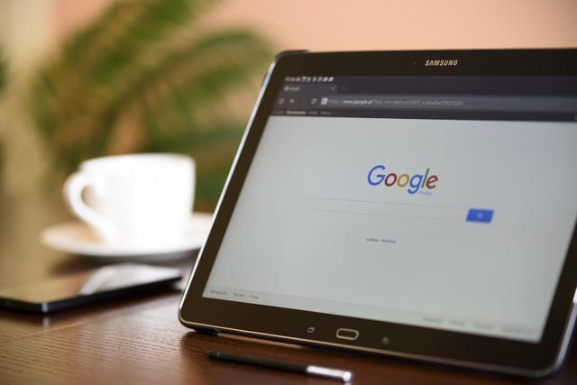 Google op een tablet