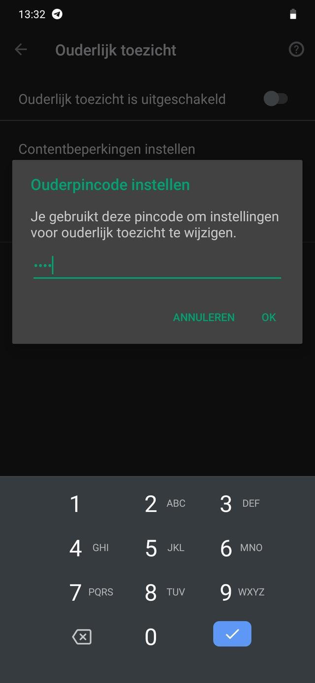 Ouderlijk toezicht Windows 10