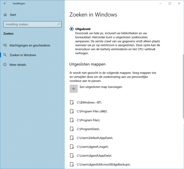 Zoeken in Windows