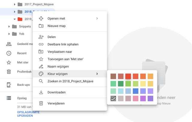 Google Drive kleur