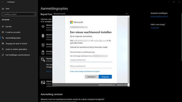 Wachtwoord Windows 10 veranderen