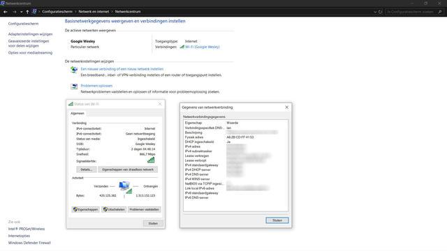 MAC-adres Windows 10 opzoeken