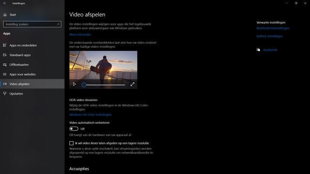 HDR op Windows 10