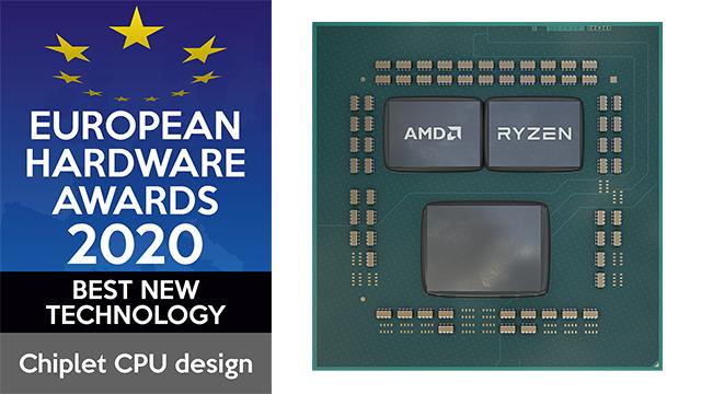 AMD's nieuwe chiplet CPU-ontwerp werd door de European Hardware Awards bekroond met de prijs voor Best New Technology.
