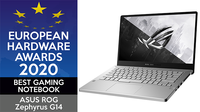 ASUS won de European Hardware Award voor Best Gaming Notebook in 2020, met hun ASUS ROG Zephyrus G14-laptop.