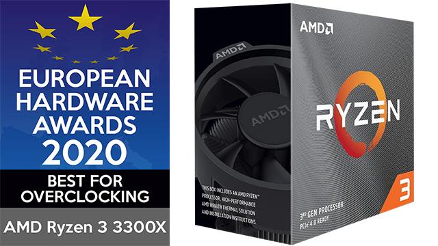 De AMD Ryzen 3 3330X werd door de European Hardware Awards bekroond met de prijs voor Best for Overclocking.