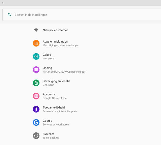 Android heeft z'n eigen instellingenpaneel, inclusief privacy-settings