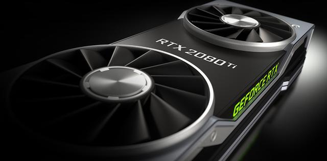 Render van de NVIDIA GeForce RTX 2080 Ti-videokaart.