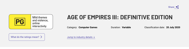 Age of Empires 3 rating