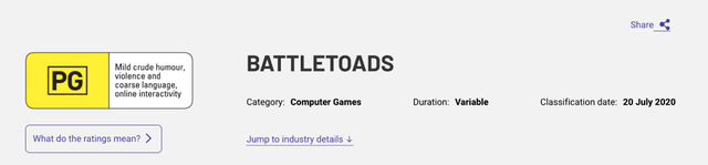 Battletoads rating