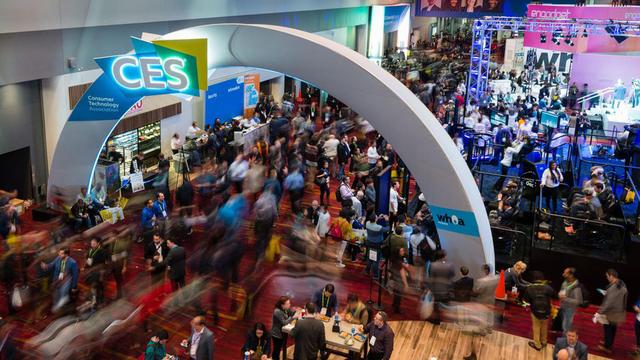 Beursfoto van de CES 2020 in Las Vegas