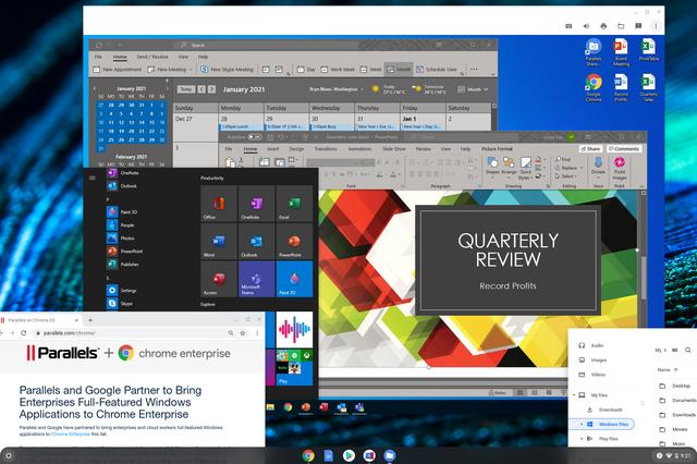 Windows 10 op Chrome OS